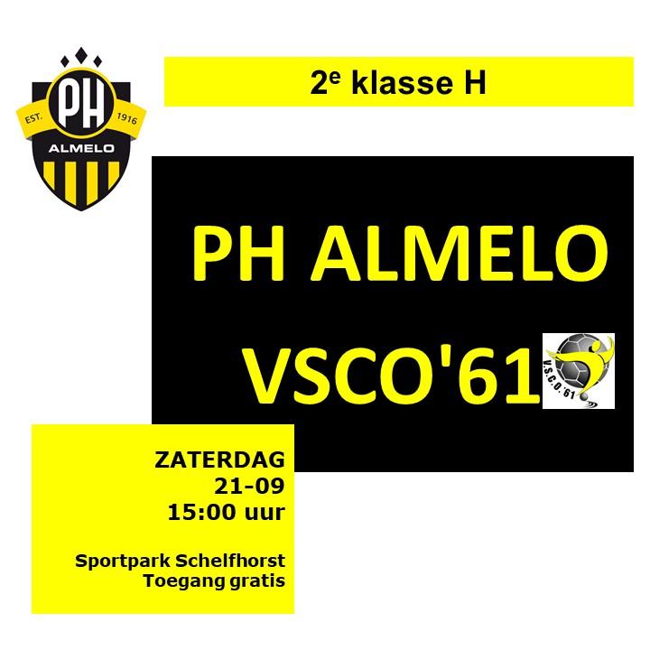 Voorbeschouwing PH Almelo 1 – VSCO'61 1