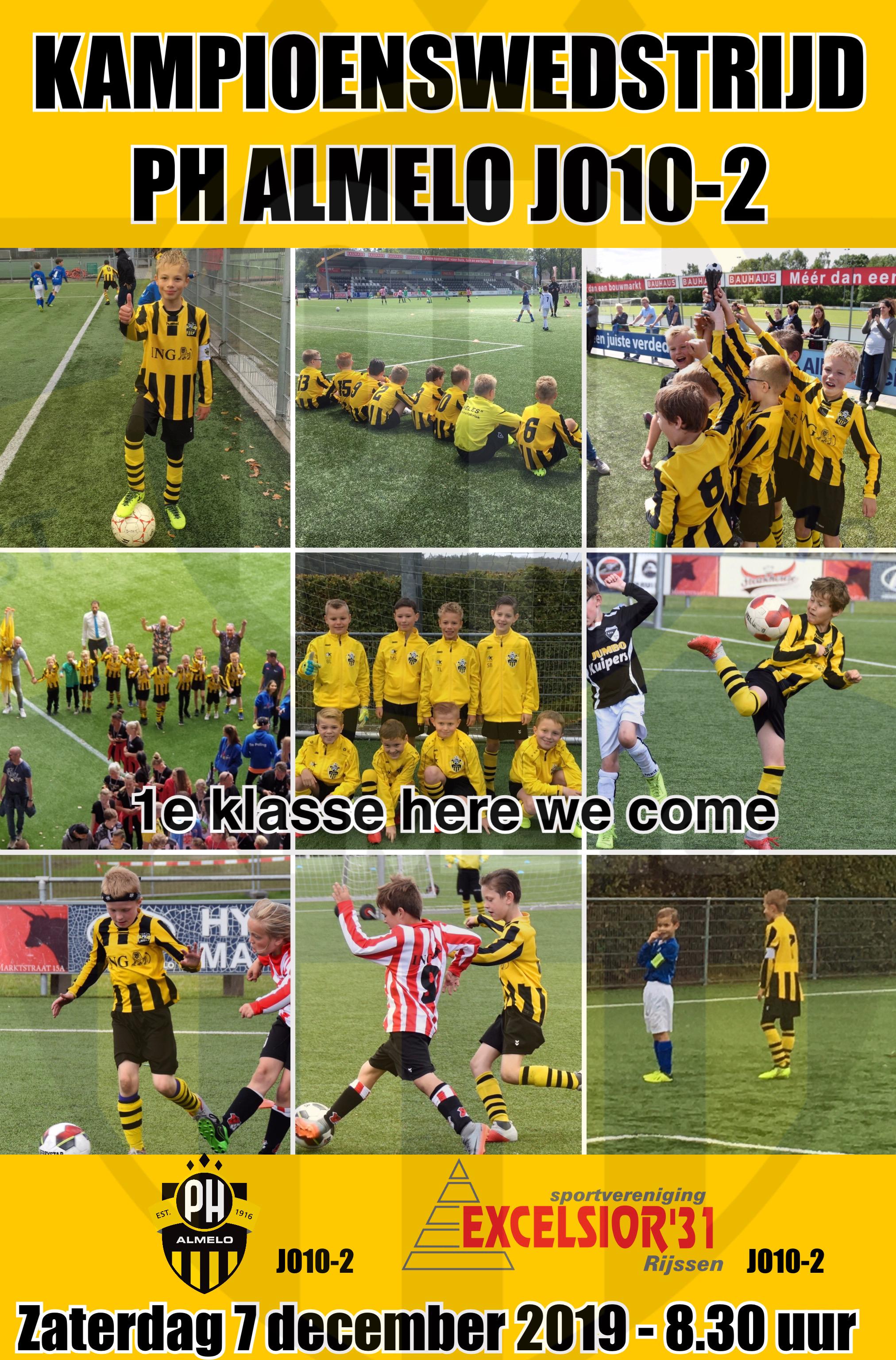 Kampioenswedstrijd PH Almelo JO10-2