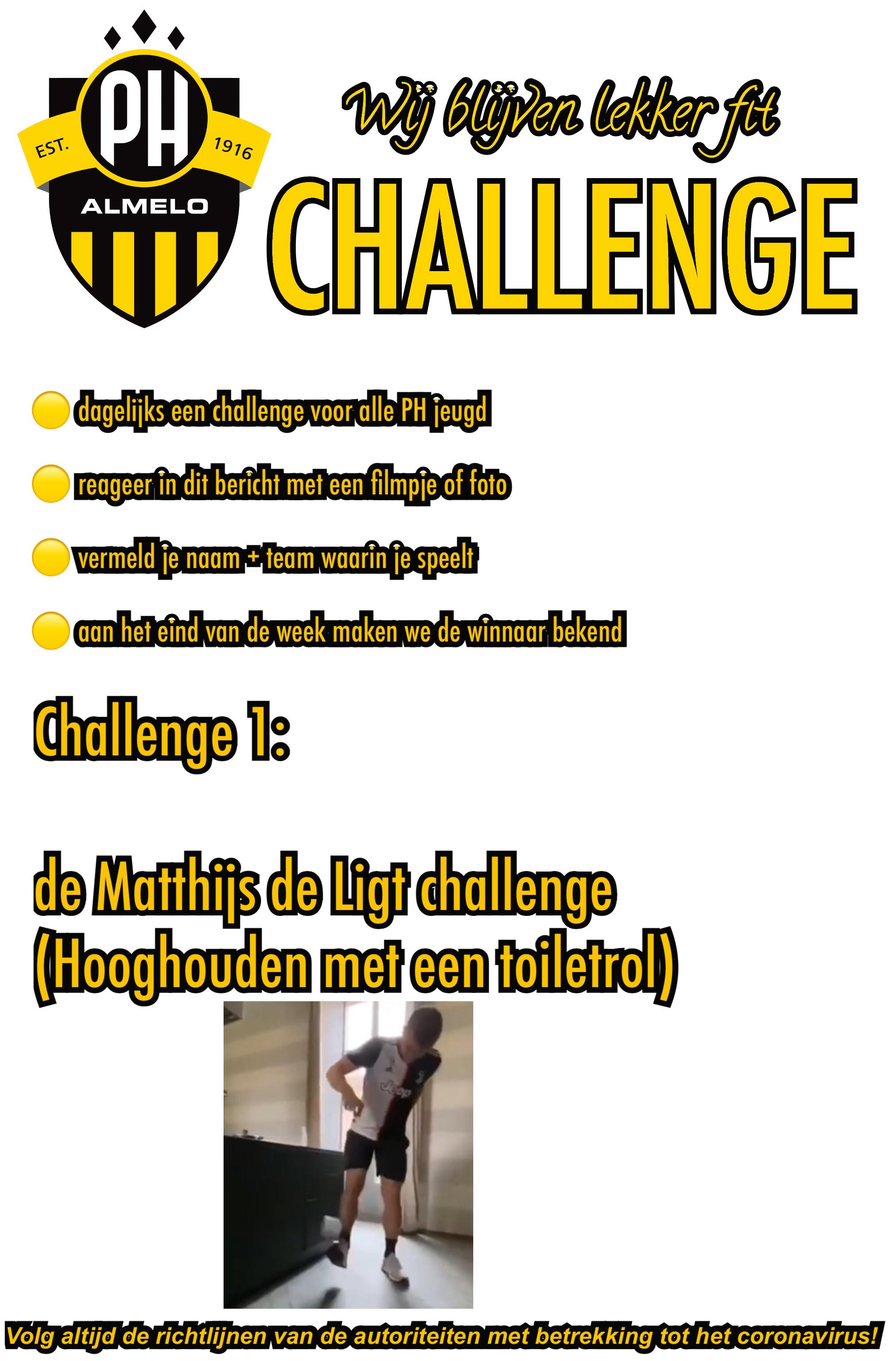 """PH Almelo """"wij Blijven Lekker Fit Challenge (dag 1)"""""""