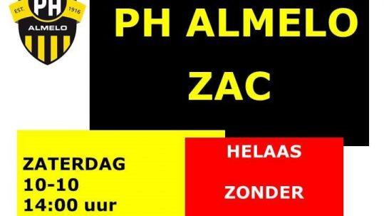 PH 1 Tegen ZAC