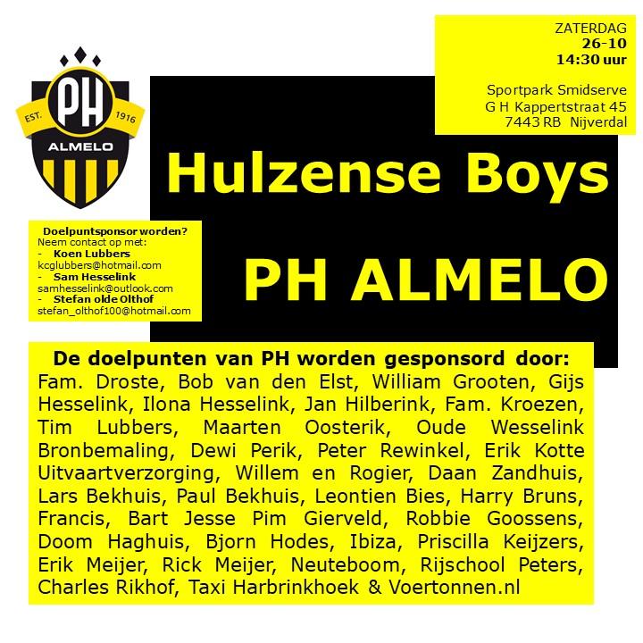 PH Uit Naar Hulzense Boys