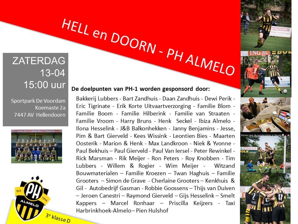 Voorbeschouwing: PH 1 Op Bezoek Bij Vv Hellendoorn In Kampioenswedstrijd